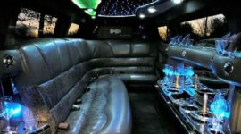 black hummer limo inside