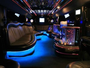 blue hummer limo