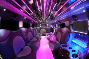 pink hummer limo interior